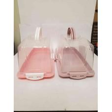 Cake Box w/ Lid - Plastic