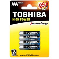 Toshiba High Power Alkaline Batteries - AAA (4 pack)
