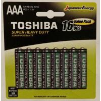 Toshiba Super Heavy Duty Batteries - AAA (16 pack)