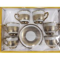 Cups w/ Handle & Saucer (12 Pcs) (125cc) - HW-MC-12-096