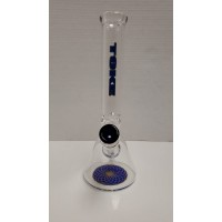 "Water Pipe - 12"" Toke w/Colored Bottom"