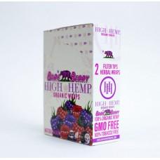 Hemp Wrap - High Hemp - Bare Berry (25 Packs)