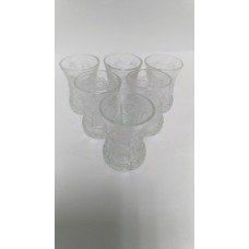 Glass Tea Cups -Etched (Set of 6)