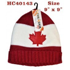 Hat - Maple Leaf - Red & White (12 Pack)
