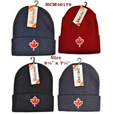 Hat - Maple Leaf - Deluxe - Asst Colours (12 Pack)