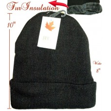 Hat - Insulated - Black (12 Pack)