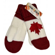 Mitten - Maple Leaf - Red & White (12 Pack)