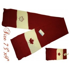 "Scarf - Canada - 73"" x 9"" - Double Layer (12 Pack)"