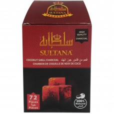 Sultana Coconut Shell Charcoal - 72 Pieces