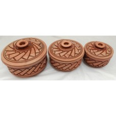 Clay Pot - Glazed - II (Set of 3)