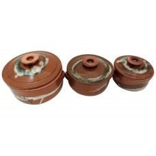 Clay Pot - Glazed - I (Set of 3)