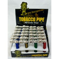 Spiral Metal Hand Pipe with Lid (24) (HX255A)