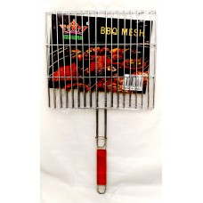 Grill Net With Wood Handle - Heavy Gauge (40 CM x 36 CM)