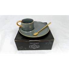 Cup w/ Handle, Saucer & Spoon 90cc (Service for 1)