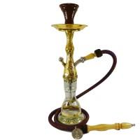 "Khalil Ma'moon Style Hookah - Mini Ceramika Gold (22"")"