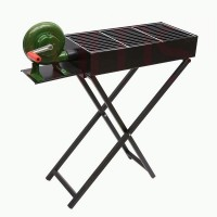 BBQ Grill With Stand & Blower (80x25 Cm) w/Adjustable Height (60 or 70 Cm)