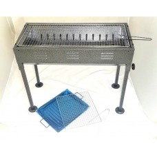 BBQ Grill (66 x 31 cm)w/Adjustable Height (68 to 56 cm)