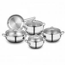 9 Piece Korkmaz Cookware