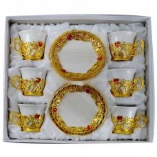 Espresso Cups W/ Handle & Saucer (Set Of 12)