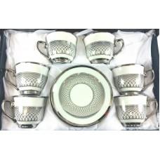Cups w/ Handle & Saucer (12 Pcs)