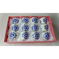 Cups With Blue Eye I (12 Pcs)