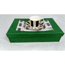 Cups w/ Handle & Saucer (12 Pcs) - Small - 90cc