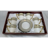 Cups w/ Handle & Saucer (12 Pcs)