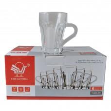 Glass Cups w/Handle (6 Pcs)