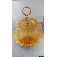 Tiered Serving Tray - Gold