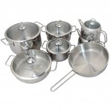 13 Piece Unique Cookware - Metal Handle