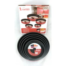 Extra Resistant Non Stick Oven Pan Circular (Set Of 5)