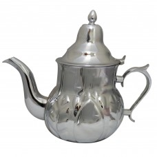 Traditional Stainless Steel Tea Pot Decorated