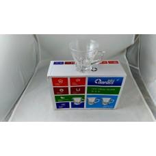 Glass Tea Cups W/handle(Set of 6)