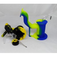 """Water Pipe - 6"""" Oil Silicone w/Banger"""