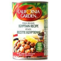 California Garden Fava Beans Egyptian Recipe 24 X 450 g Can