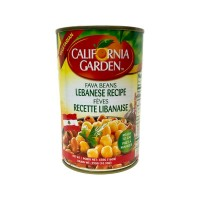 California Garden Fava Beans Lebanese Recipe 24 X 450 g Can