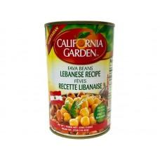 California Garden Fava Beans Lebanese Recipe 24 X 450 g Can