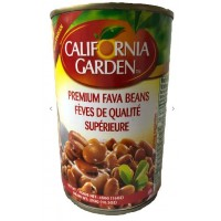 California Garden Fava Beans Regular 24x450 g Can