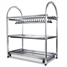 3 Tier Stainless Shelf for Bowls & Plates