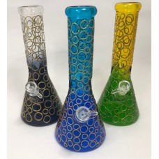 "12"" Water Pipe w/ Ombre Design"