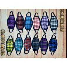 Fashion Mask - Plaid Pattern 003 (25 MASKS PER ORDER)