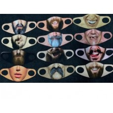 Fashion Mask - Funny Faces 004 (25 MASKS PER ORDER)