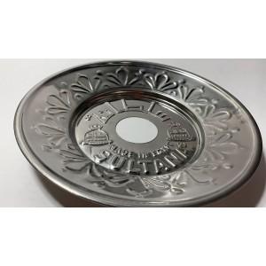 Sultana Hookah Tray - Large Heavy Silver (23 CM)