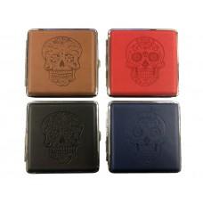 Metal Cigarette Case w/Snake Skull Design (12)