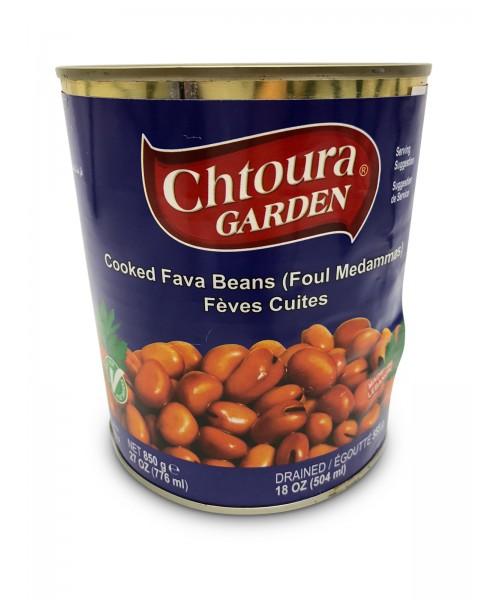 Chtoura Garden Cooked Cooked Fava Beans (Foul Medammas) (12 x 850 g)