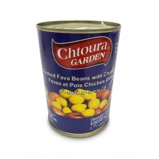 Chtoura Garden Cooked Cooked Fava Beans with Chickpeas (24 x 400 g)