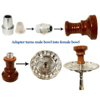 Hookah Adapter from Male Bowl to Female Bowl
