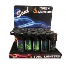 Soul Torch Lighter (15/Display) - Marijuana 2