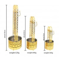 Hookah Charcoal Carrier - Set of 3 - Fancy Gold