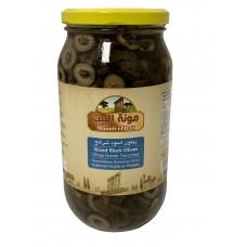 Mounit el Bait - Sliced Black Olives (12 x 1000 g)